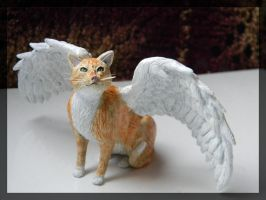Pumpkin Pet Angel Sculpture by LaurelArtz
