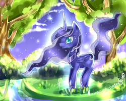Luna night scenery by AquaGalaxy