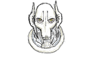 General Grievous - practicing with my tablet by JollyRoses