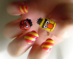 Bert and Ernie by KayleighOC