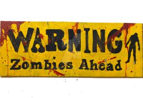 Zombie Apocolypse wooden sign by SchumArt