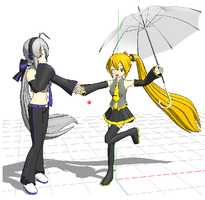 Under Neru's Umbrella by Dollena