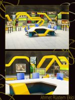 A set for a sports channel by alliserdem