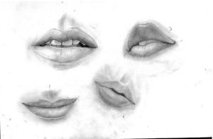 Sketches - lips by Dreamfollower