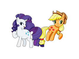 .:PC:. Rarity and AppleJack by xXHeartless-RosesXx