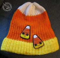 Loom Knit Candy Corn Hat by Myrret