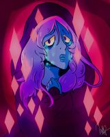 Steven Universe Blue Diamond (saturated)-FAN ART. by Marcio-Junior