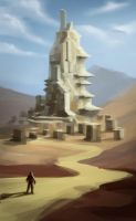 CW Entry Speed painting Ancient Mountain Construct by Long-Pham
