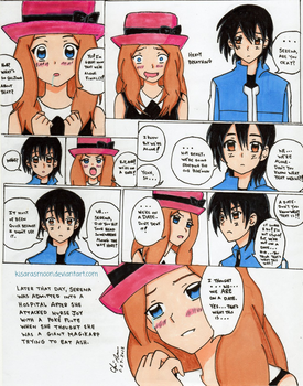 Ash and Serena's First Date XY059 by Kisarasmoon