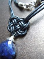 Twilight Blue Celtic Heart Labradorite Necklace by A-Sharper-Spectrum