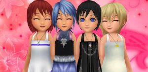 kh girls - young days by XxRhian-MidnightxX