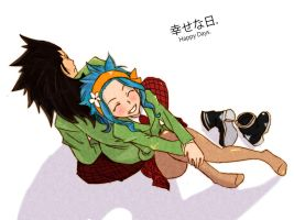 .Gajeel and Levy. by Joyfuleejoyful