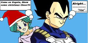 Vegeta's Holiday Spirit-again- by Trixen