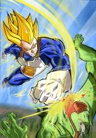 Vegeta vs Cell by More979