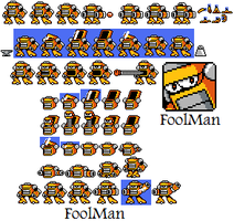 FoolMan Sprite Sheet by hfbn2