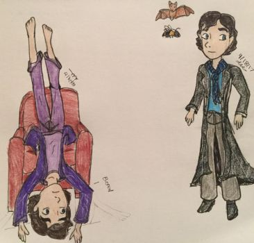 Sherlock fan art  by Paleogirl47