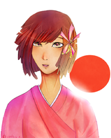 APH:FEM: Japan Rising Sun by AveThree