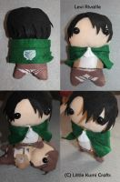 Levi Rivaille chibi plush by lkcrafts