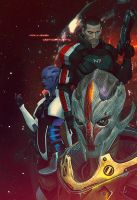 Mass Effect 3 Omega (not effect) by SallibyG-Ray