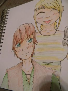Hiccup and Astrid by thenacken
