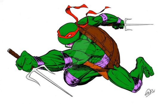 Raphael by Eric D. Ninaltowski (Colored) by TheComicBookMaster