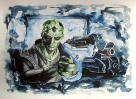 Thane Krios Last fight by Angua33