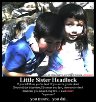 Little Sister Headlock by unlikely-kisses