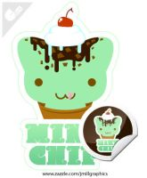 Kitty Cones - Mint Chip by jmillgraphics