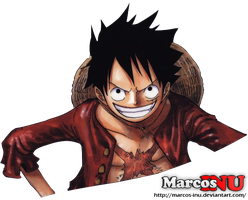 Eleven Supernovas Time Skip - Luffy Render by Marcos-Inu