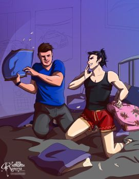 Pillow Fight by Kuneria