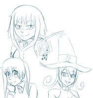 Soul eater doodles by PanicPeng