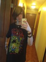 New shirt, sexy hair! Yes a great day! by DarkendDrummer