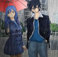 Fairy Tail: Cheers - Modern Gray and Juvia by KatieLove2Write