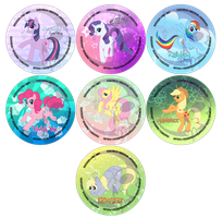 .:MLP Gang Buttons:. by iKacte
