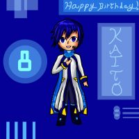 Happy birthday KAITO! by MidnightLiger0
