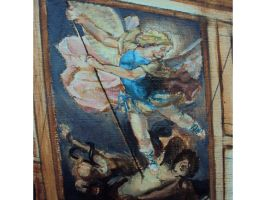 St. Michael Mini Painting by MikeBourbeauArt