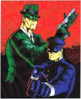 Green Hornet and Kato by KirqArts