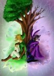 Link and Ravio - Two Worlds by TheHummingInker