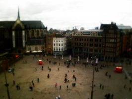 Dam Square, Amsterdam by spider-mat