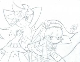 justDEF - Panty and Stocking [FanArt] by Just-Def