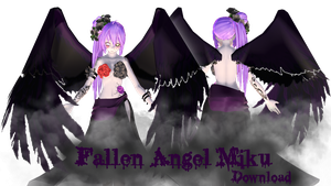 [MMD] Tda Fallen Angel Miku DL by JustLunaLover