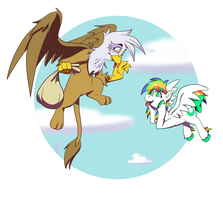 Gilda and Moondust by mithol