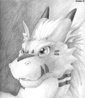 Growlmon Pencil by teaselbone