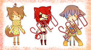 Clovers + Kemonomimi Adoptables :: CLOSED by ERIcentric