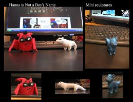 HiNaBN: Mini sculpts by Animus-Panthera