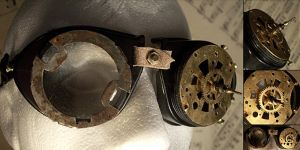 Steampunk Parts Goggles by hrekkjavakaastarkort