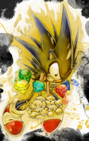Sonic in midtransformation IN COLOR by Clutch45