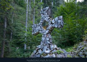 Stone Cross Side by kuschelirmel-stock