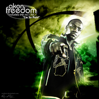 """""""Freedom"""" - Akon CD Cover 2 by reytime"""