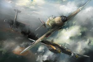 The very first fight of 310th Sqdn. P/O E.Fechtner by VitoSs